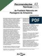 Utilização de Fosfatos Naturais em Pastagens da Amazônia