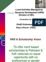 Human Resource Development @ HEC, Pakistan