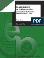 La desigualdad en la hipertensión - BUSSE, Peter. Lima, IEP, 2012