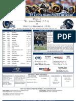 Week 17 2012 - Rams at Seahawks