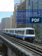 Success and Failure in Urban Transportation Infrastructure Projects