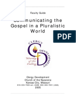 Communicating the Gospel in a Pluralistic World Instructor Guide