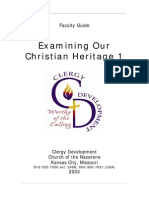Examining Our Christian Heritage 1 Instructor Guide