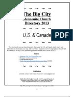 Big City Mennonite Church Directory 2013