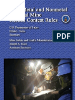 MSHA 2012 Mine Rescue Contest Rules