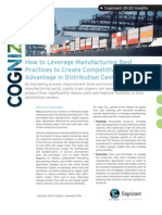 How to Leverage Manufacturing Best Practices to Create Competitive Advantage in Distribution Centers