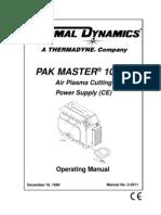 Operators Manual - 100 XL PakMaster