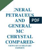 GENERAL PETRAEUS AND GENERAL MC CHRYSTAL COMPARED-US VIEWS