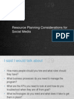 Resource Planning for Social Media Marketing - EBriks Infotech