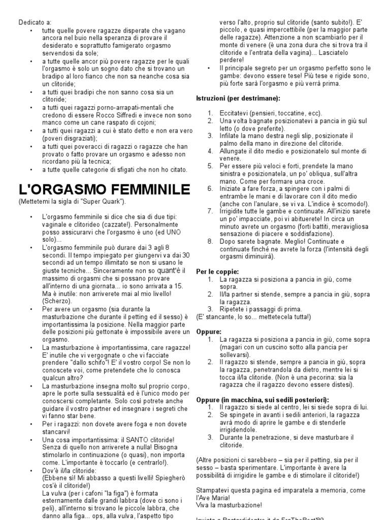 orgasmo femminile PDF gratis maturo film porno clip