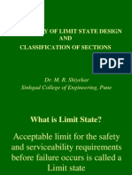 PHILOSOPHY OF LIMIT STATE DESIGN AND CLASSIFICATION OF SECTIONS