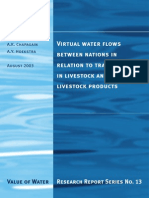 Virtual water flows between nations in relation to trade in livestock and livestock products