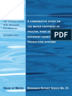 A comparative study on the water footprint of poultry, pork and beef in different countries and production systems