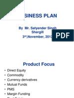 Business Plan-satyedner Singh Shergill