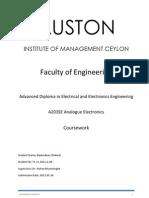 A203SE Analog Electronics Coursework