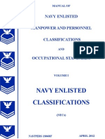 NAVPERS 18068F  U.S. NAVY ENLISTED CLASSIFICATION MANUAL  APRIL 2012