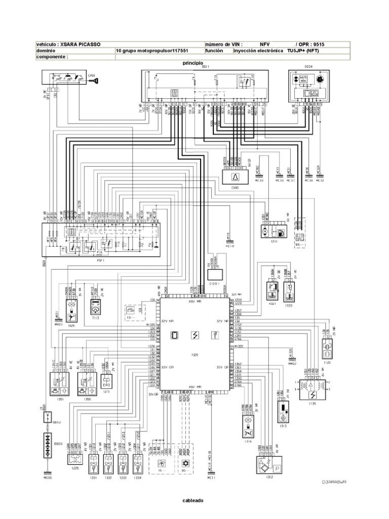 Citroen Xsara Picasso Esquema Electrico Gestion Motor Nfv