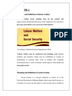 labour welfare and social society