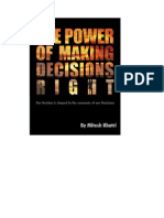 The Power Of Making Decisions Right