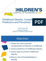 Medical Complications of Childhood Obesity