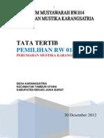Tata Tertib Pemilihan Ketua RW.014