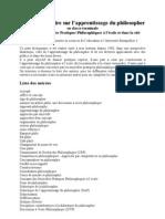Tozzi | Dictionnaire de l'Apprentissage Du Philosopher en Classe de Termina