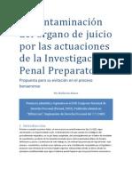 La contaminación del órgano de juicio por las actuaciones de la Investigación Penal Preparatoria