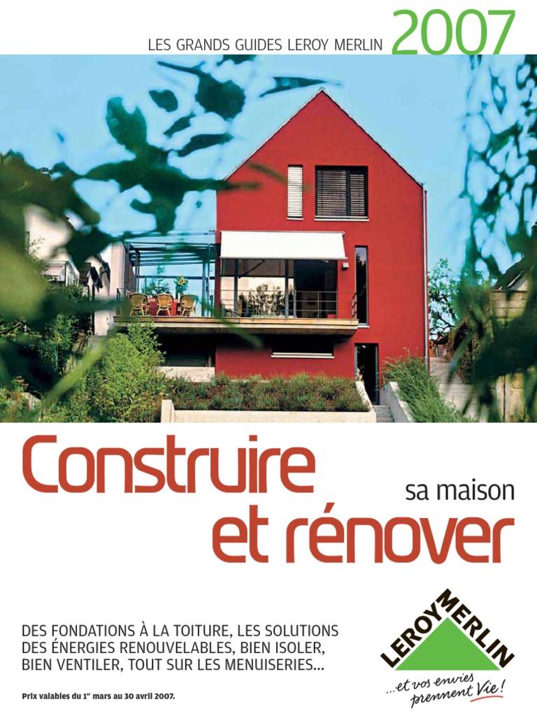 33509566 leroy merlin bricolage grand guide construire et for Construire une maison terraria