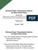 WirelessPowerTransmissionOptionsForSpaceSolarPower.ppt