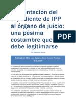 Presentación del expediente de IPP al órgano de juicio
