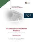 CORSO MICOLOGI 2013-2014.