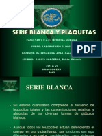 Serie Blanca y Plaquetas 2012