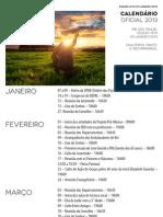 Calendário de Atividades Oficial - 2013