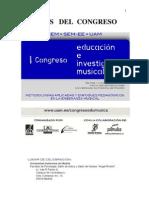 ACTAS DEL ENCUENTRO DE ENSEÑANZA  DE LA MUSICA