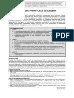 antibiotic prophylaxis in surgery 2012