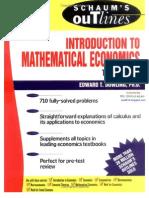 Pdf mathematical economics books