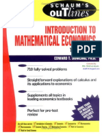 Schaum's Easy Outline Of Introduction To Mathematical Economics, easy Mathematical Economics, Mathematical Economics