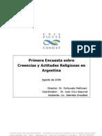 CONICET Encuesta Religión 2008