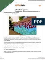 Arte Callejero contra Las Represas Nota en Misiones Cuatro