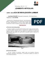 Deslizamiento articular lumbar