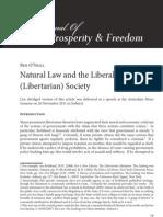 Natural Law and the Liberal (Libertarian) Society