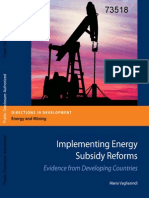 Implementing Energy Subsidy Reforms. Evidence from Developing Countries