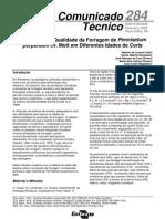 Rendimento e Qualidade da Forragem de Pennisetum purpureum cv. Mott em Diferentes Idades de Cortes