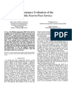 Performance Evaluation of the  Mobile Peer-to-Peer Service