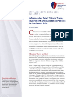Influence for Sale? China's Trade,