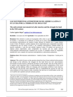 """""""Los movimientos antisistemicos en America Latina"""" por Carlos Aguirre Rojas."""