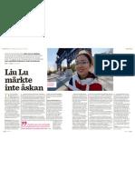"""""""Liu Lu märkte inte åskan"""", för Auris"""