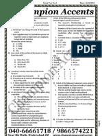 Civils Prelims Mock Test1 Paper1