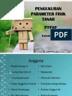 Ppt Pengukuran Parameter Fisik Tanah Ptpsp 2