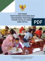 Pedoman Penyusunan Rencana Aksi Percepatan Pencapaian MDGs (RAD) di Indonesia